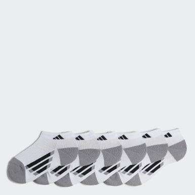 Youth Training White 3-Stripes Low Cut Socks 6 Pairs