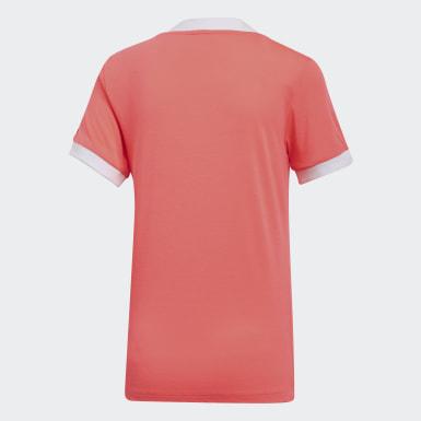 T-shirt3-Stripes Orange Femmes Originals