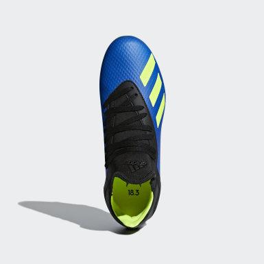 Chlapci Futbal modrá Kopačky X 18.3 Firm Ground