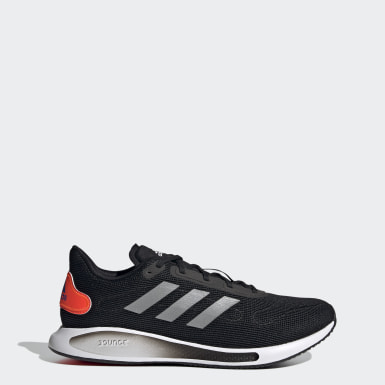 Men Running Black Galaxar Run Shoes