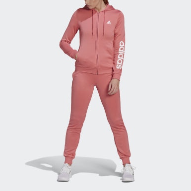 Women Athletics Pink Essentials Logo French Terry Track Suit