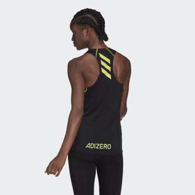 Women Running Black Adizero Primeblue Tank Top