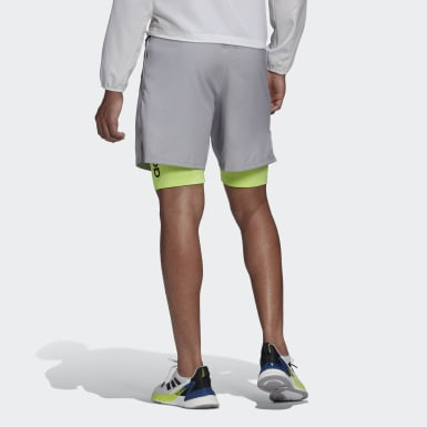 Men Training Grey Activated Tech Shorts