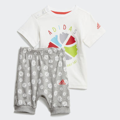 Boys Training White Infants Summer Set