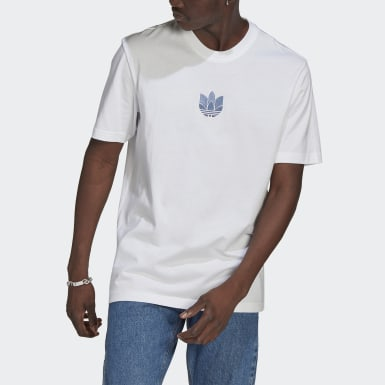 Men's Originals White LOUNGEWEAR Adicolor 3D Trefoil Tee
