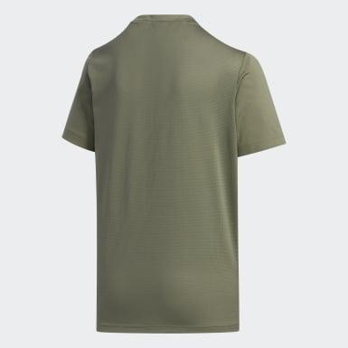 Camiseta 3-Stripes Verde Meninos Training