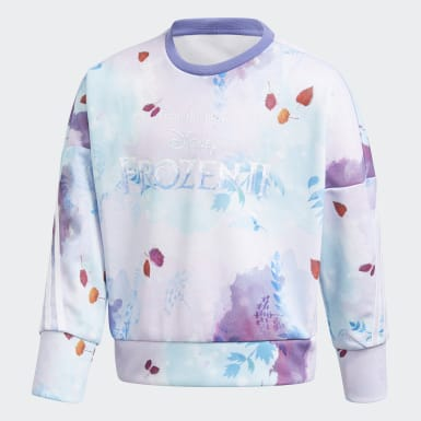 Kids 4-8 Years Training Purple Disney Frozen Crew Sweatshirt