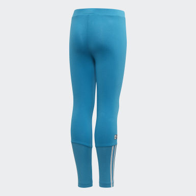 Girls Training Turquoise Frozen Tights