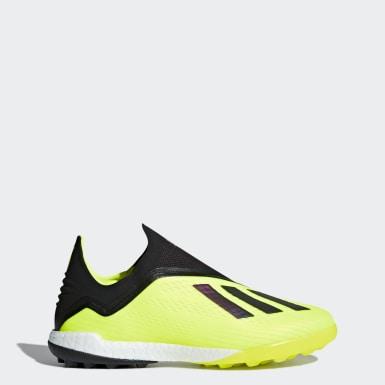Calzado de Fútbol X Tango 18+ Pasto Sintético Amarillo Hombre Fútbol