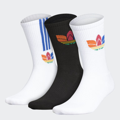 Men's Originals Multicolor 3D Trefoil Crew Socks 3 Pairs