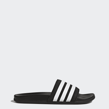 Chinelo Adilette Cloudfoam Plus Stripes Preto Homem Yoga
