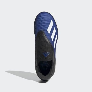 Kids 4-8 Years Football Blue X 19.3 Turf Boots