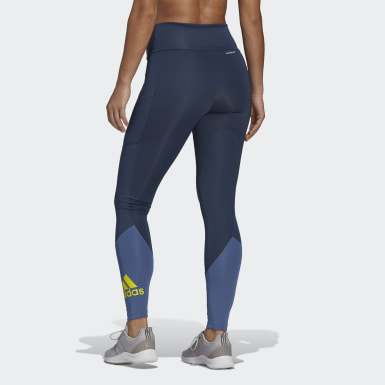 Legging Esportiva Designed To Move Big Logo Azul Mulher Training