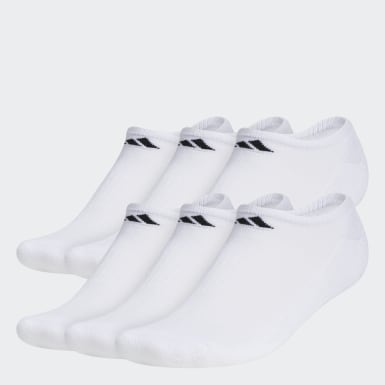 Men's Basketball White Athletic No-Show Socks 6 Pairs