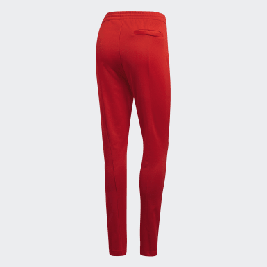 Pants - Corte Alto Rojo Mujer Originals