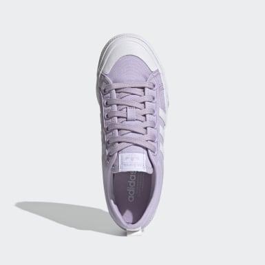 Chaussure Nizza Platform pourpre Femmes Originals