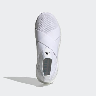 Women Running White Ultraboost Slip-On DNA Shoes