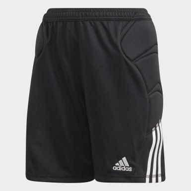 Boys Football Black Tierro Goalkeeper Shorts