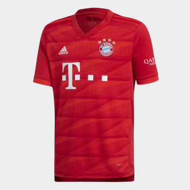 Jersey Uniforme Titular FC Bayern Rojo Niño Fútbol