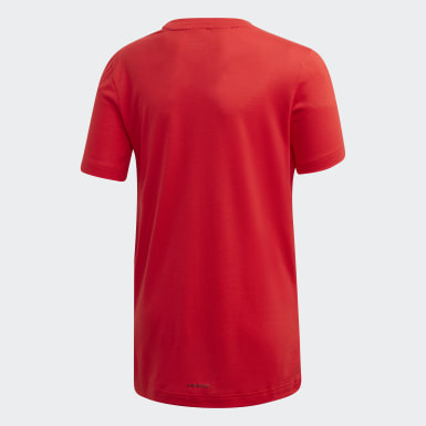 Youth 8-16 Years Yoga Red Prime T-Shirt