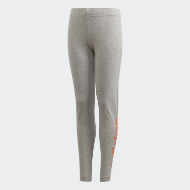 Leggings Essentials Linear Grigio Bambini Athletics