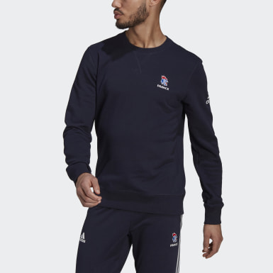 Mænd Handball Blå France Handball Training Crew sweatshirt