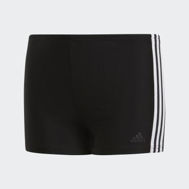 Shorts de Natación 3 Franjas Negro Niño Natación