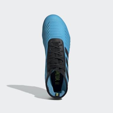 Bota de fútbol Predator 19.1 césped natural seco Azul Niño Fútbol