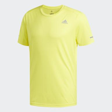 Men Running Yellow Run Tee