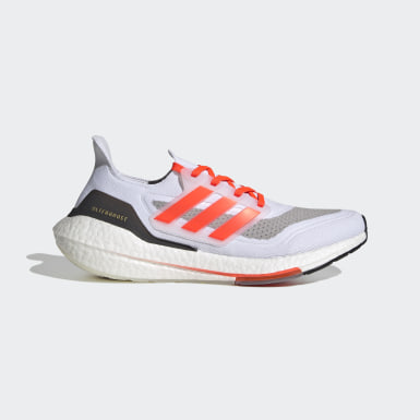 Men Running White Ultraboost 21 Shoes