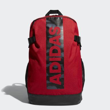 Men Training Red Power Badge of Sport Backpack