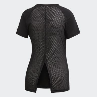 ผู้หญิง ไลฟ์สไตล์ สีดำ เสื้อยืด Design 2 Move 3-Stripes