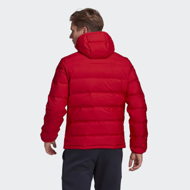 Männer City Outdoor Helionic Hooded Daunenjacke Rot