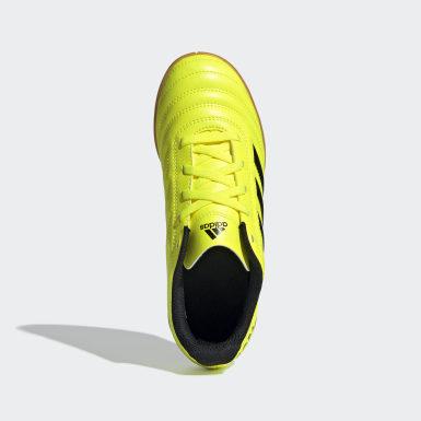 Chuteira Copa 19.4 Futsal Amarelo Meninos Futebol
