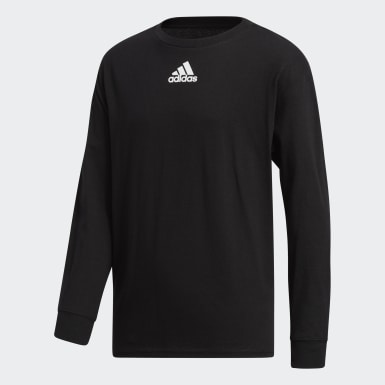 Youth Training Black Y LS AMPLIFIER TEE -TEAM