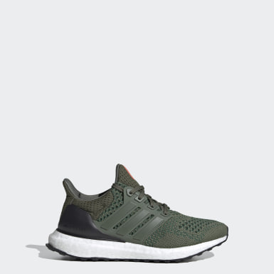 Youth 8-16 Years Running Green Ultraboost 20 Running Shoes
