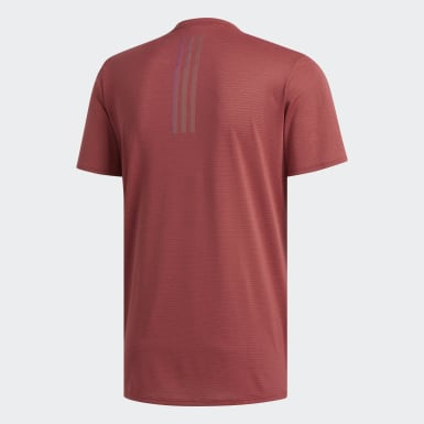 Men Running Burgundy Supernova Tee