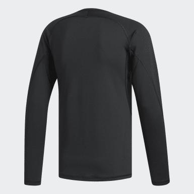 Mænd Golf Sort Climawarm Golf Crew T-shirt
