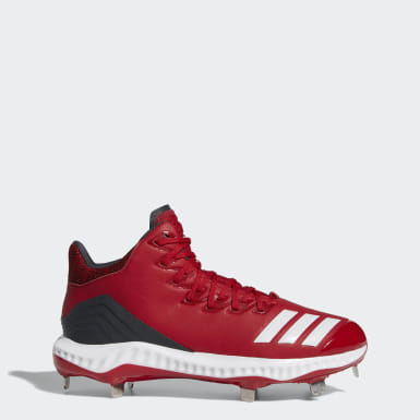 Men's Baseball Red Icon Bounce Mid Cleats