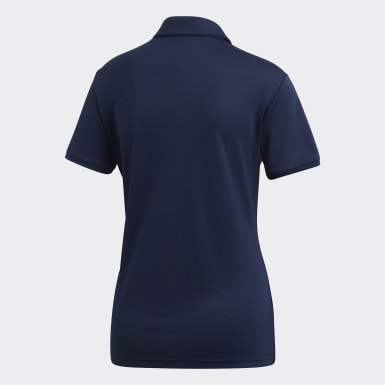 Women Golf Blue Tournament Polo Shirt