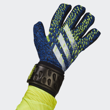 Football Black Predator League Goalkeeper Gloves