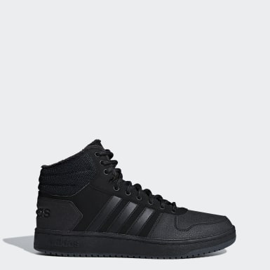 Men Sport Inspired Black Hoops 2.0 Mid Shoes