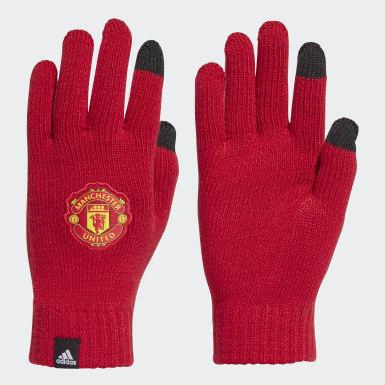 красный Перчатки MUFC