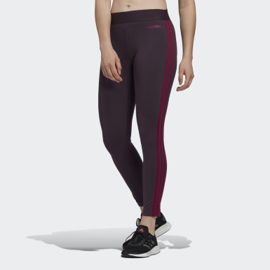 Women Lifestyle Purple Essentials 3-Stripes Tights