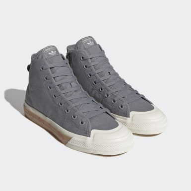 Men's Originals Grey Human Made Nizza Hi Shoes