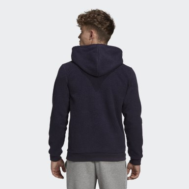Herr Athletics Svart Sherpa Winter Hoodie