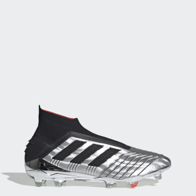 Football Silver Predator 19+ Firm Ground Boots
