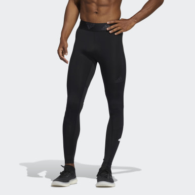 Men Cross Training Black Techfit Long Tights
