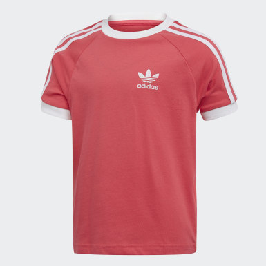 Kids Originals Pink 3-Stripes Tee