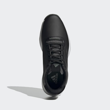 Men Golf Black S2G Spikeless Leather Golf Shoes